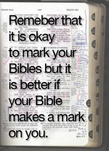 Mark your Bible